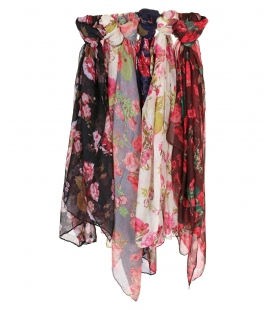 Lot de 6 foulards motif Rose