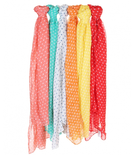 Lot de 6 foulards Pois